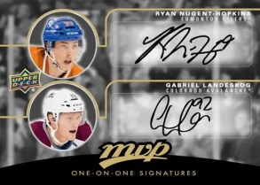 2011-12 Upper Deck Series 2 MVP One-On-One Autograph Ryan Nugent-Hopkins & Gabriel Landeskog