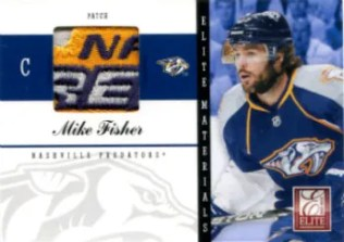 2011-12 Donruss Elite Materials Patches #36 Mike Fisher Card