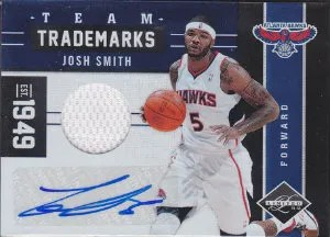 2011-12 Panini Limited Team Trademarks Josh Smith Jersey Autograph Card