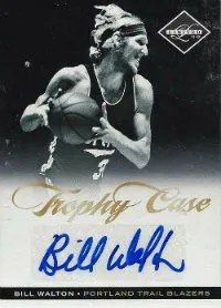 2011-12 Panini Limited Trophy Case Bill Walton Autograph Card