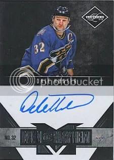 2011-12 Panini Rookie Anthology Bonus Autograph Dale Hunter Card