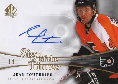 2011-12 Upper Deck SP Authentic Sign of the Times Autograph #SOT-CU Sean Couturier