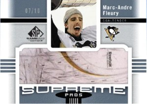 2011-12 Upper Deck SP Game Used Supreme Marc-Andre Fleury Card