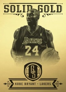 2011/12 Panini Gold Standard Solid Gold Kobe Bryant Card