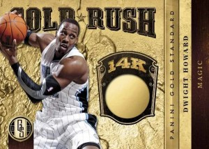 2011/12 Panini Gold Standard Gold Rush Dwight Howard 14K gold Card