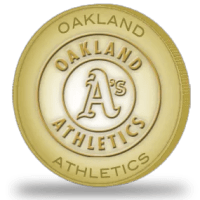 2012 Topps Golden Giveaway Oakland A's Team Coin
