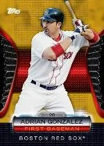 2012 Topps Golden Giveaway Adrian Gonzalez Golden Moments