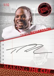 2012 Press Pass Making The Cut Trent Richardson Autograph Card