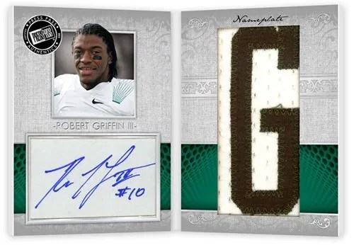 2012 Press Pass Showcase Robert Griffin III Jersey Patch Autograph Book Card