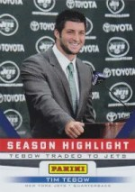 2012 Panini Father's Day Tim Tebow Season Highlight Card