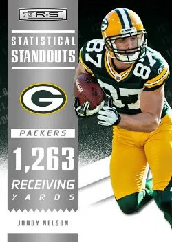 2012 Panini Rookies and Stars Jordy Nelson Statistical Standout Insert Card