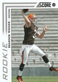 2012 Score Brandon Weeden SP Photo Variation RC