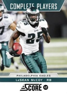 2012 Score Complete Players LeSean McCoy Insert Card