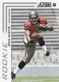 2012 Score Doug Martin Photo Variation Rookie Card