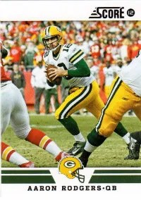 2012 Score Aaron Rodgers Base Card