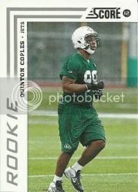 2012 Score Football Quinton Coples RC Card