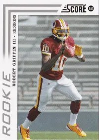 2012 Score Football Robert Griffin III #368 Rookie