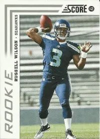 2012 Score Football Russell Wilson RC Card