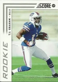2012 Score Football T.J. Graham RC Card