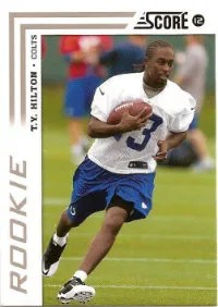 2012 Score T.Y. Hilton Rookie Card