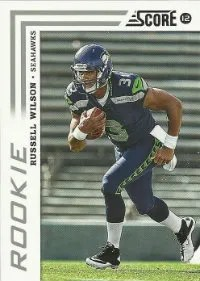 2012 Score Russell Wilson SP Photo Variation RC Card