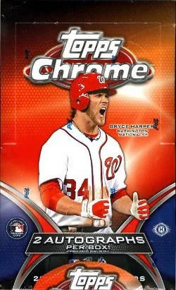 2012 Topps Chrome Baseball Box