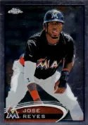2012 Topps Chrome Jose Reyes SP Photo Variation
