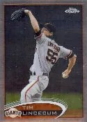 2012 Topps Chrome Tim Lincecum SP Photo Variation