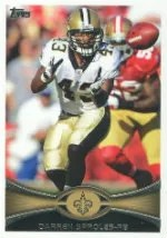 2012 Topps Darren Sproles SP Photo Variation Card