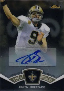 2012 Topps Finest Moments Drew Brees Autograph