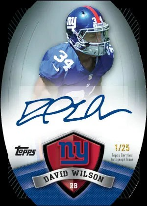 2012 Topps Game Time David Wilson Die-Cut Autograph Card