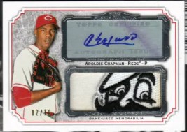 2012 Topps Museum Collection Aroldis Chapman Autograph Patch Card