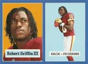 2012 Topps Robert Griffin III 1957 Reprint RC Card Blue Border