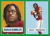 2012 Topps Robert Griffin III 1957 Reprint RC Green Border
