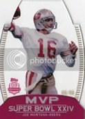 2012 Topps Super Bowl MVP Joe Montana Card