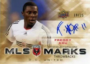 2012 Upper Deck MLS Throwback Marks Autograph Freddy Adu Card