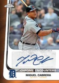 2012 Topps Chrome Miguel Cabrera Chrome Encounter Autograph