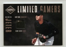 2011 Panini Limited Gamers Gloves Derek Jeter Card
