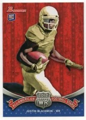2012 Bowman Football Justin Blackmon All American