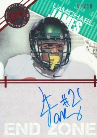 2012 Press Pass Showcase LaMichael James Autograph End Zone Card #/10