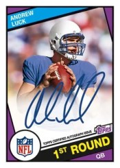 2012 Topps Football Andrew Luck 1984 Autograph