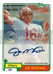 2012 Topps Football Joe Montana Autograph Reprint