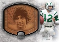 2012 Topps Football Joe Namath QB Immortals Plaque