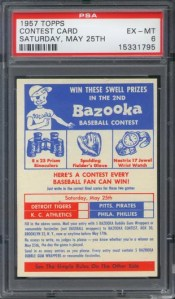 1957 Topps May 25th Contest Card Graded PSA 6