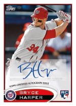 2012 Topps Series 2 Bryce Harper Autograph RC