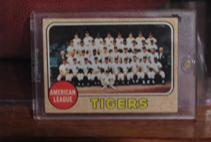 Topps Tigers Team Card