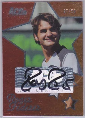 Ace Authentics Roger Federer Autograph Card
