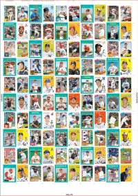 2012 Topps Archives Baseball Un-Cut Sheets