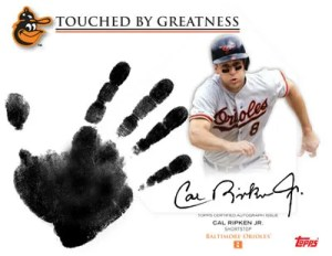 2012 Topps Archives Cal Ripken Jr. Autograph Handprint