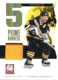 2011-12 Donruss Elite Hockey Prime Number Jersey #12 Bryan Trottier #/500